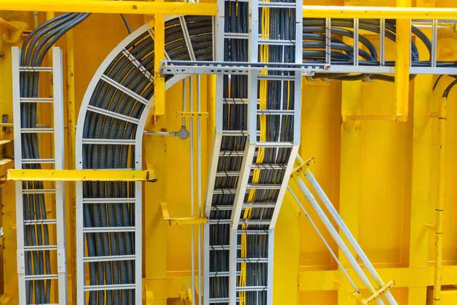 Kabelbahnmontage